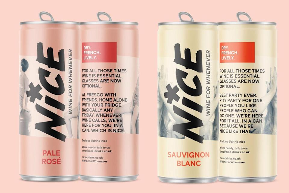 'Wine for whenever' from new canned wine brand Nice (Nice)