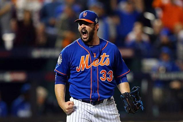 """<a class=""""link rapid-noclick-resp"""" href=""""/mlb/players/9245/"""" data-ylk=""""slk:Matt Harvey"""">Matt Harvey</a> leads this week's look at fantasy risers and fallers. (Getty Images)"""