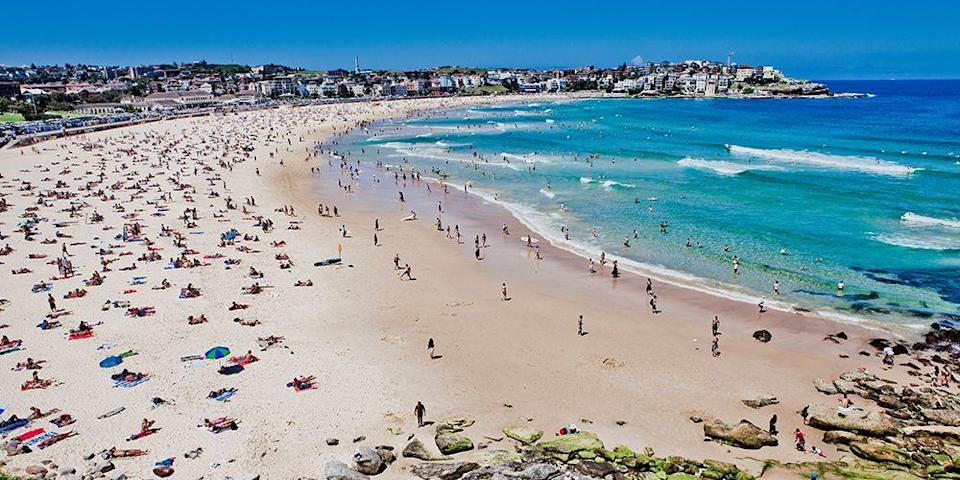 """<p>This famous <a href=""""https://www.tripadvisor.com/Attraction_Review-g255060-d257354-Reviews-Bondi_Beach-Sydney_New_South_Wales.html"""" rel=""""nofollow noopener"""" target=""""_blank"""" data-ylk=""""slk:Australian beach"""" class=""""link rapid-noclick-resp"""">Australian beach</a> is just a 20-minute drive from Sydney, making it the perfect day trip. The wide, crescent-shaped strand is known for its surf, which attracts big-time surfers. You'll want to linger over a long lunch in one of Bondi's waterfront restaurants. </p><p><a class=""""link rapid-noclick-resp"""" href=""""https://go.redirectingat.com?id=74968X1596630&url=https%3A%2F%2Fwww.tripadvisor.com%2FHotel_Review-g255060-d257296-Reviews-The_Grace_Hotel_Sydney-Sydney_New_South_Wales.html&sref=https%3A%2F%2Fwww.redbookmag.com%2Flife%2Fg34756735%2Fbest-beaches-for-vacations%2F"""" rel=""""nofollow noopener"""" target=""""_blank"""" data-ylk=""""slk:BOOK NOW"""">BOOK NOW</a> The Grace Sydney</p><p><a class=""""link rapid-noclick-resp"""" href=""""https://go.redirectingat.com?id=74968X1596630&url=https%3A%2F%2Fwww.tripadvisor.com%2FHotel_Review-g255060-d256659-Reviews-The_Westin_Sydney-Sydney_New_South_Wales.html&sref=https%3A%2F%2Fwww.redbookmag.com%2Flife%2Fg34756735%2Fbest-beaches-for-vacations%2F"""" rel=""""nofollow noopener"""" target=""""_blank"""" data-ylk=""""slk:BOOK NOW"""">BOOK NOW</a> The Westin Sydney</p>"""