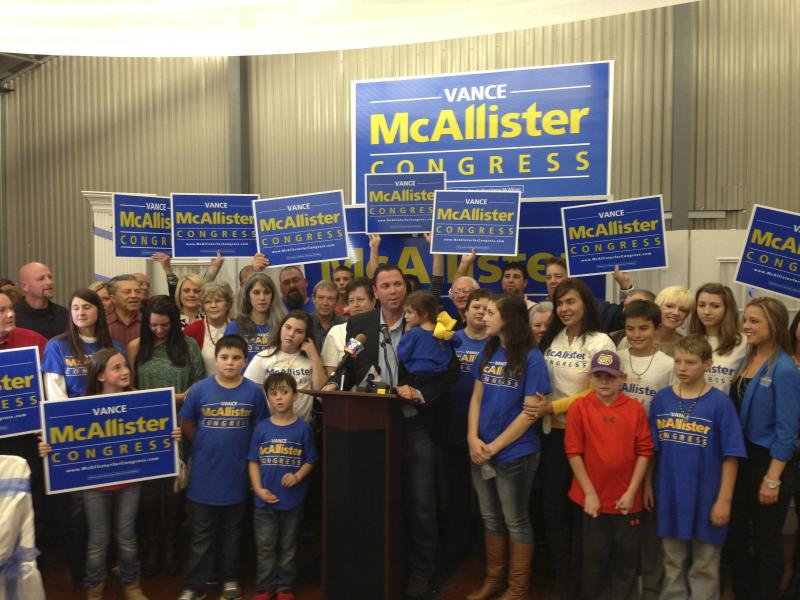 Republican businessman Vance McAllister is pictured after winning a special election in New Orleans