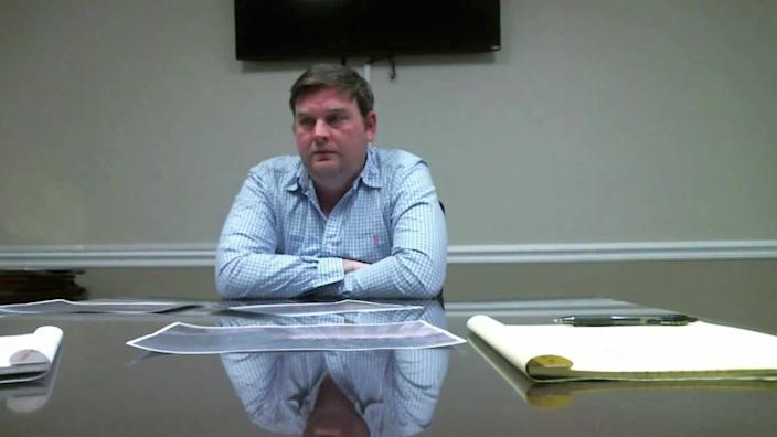 Bo Dukes shares details of what happened to Tara Grinstead with the Georgia Bureau of Investigation. / Credit: Superior Courts, Cordele Judicial Circuit