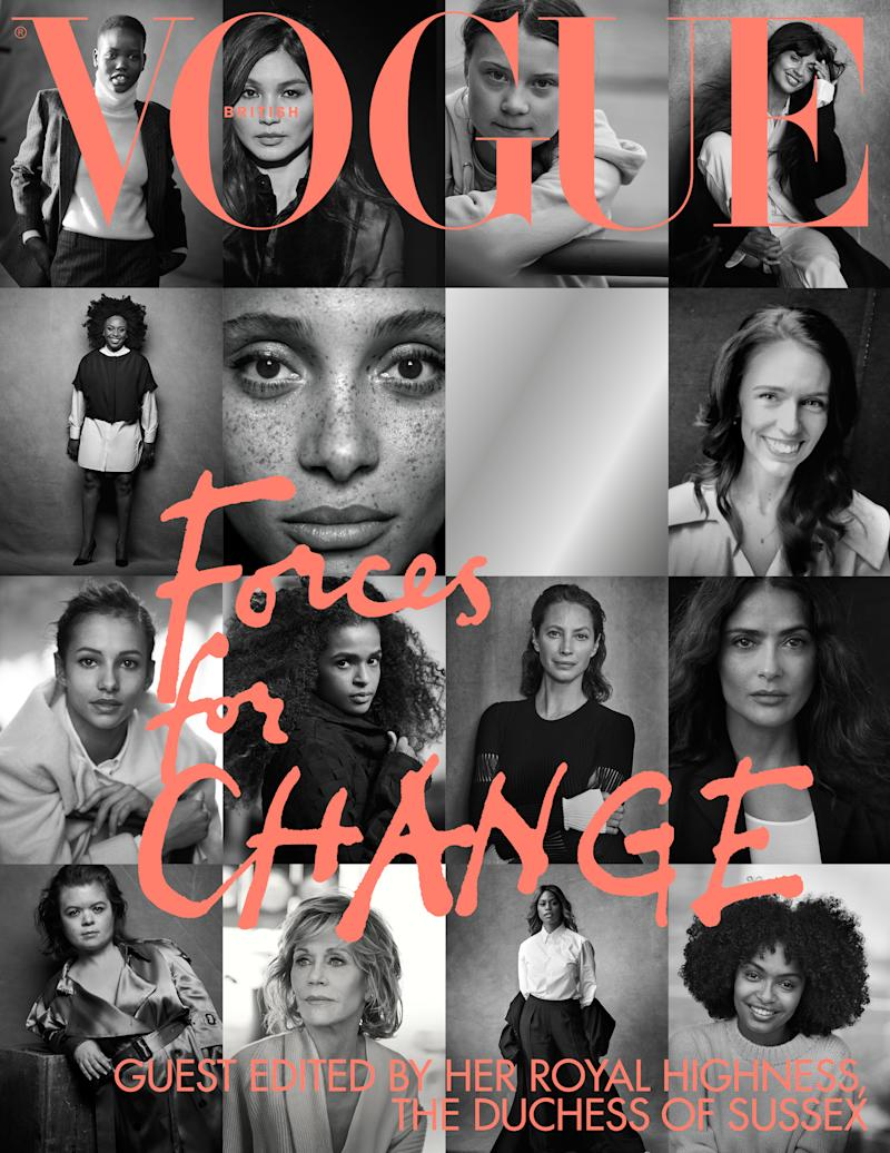 The Duchess of Sussex has guest-edited the September issue of British Vogue. [Photo: Peter Lindbergh]