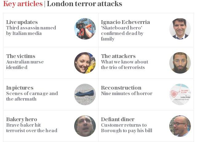 Key articles | London terror attacks