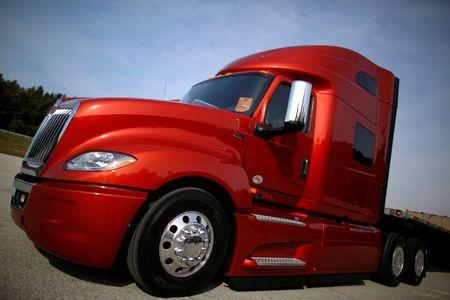 A Navistar LT Series truck is photographed at the Navistar Proving Grounds in New Carlisle
