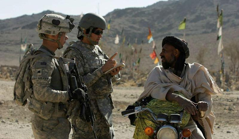 Traditionally, Afghans who have worked with the US military have been offered American visas: AP