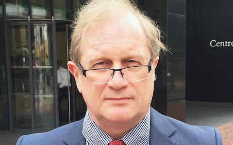 <span>Dr David Mackereth, pictured outside the employment tribunal building in Birmingham</span> <span>Credit: Matthew Cooper/PA </span>