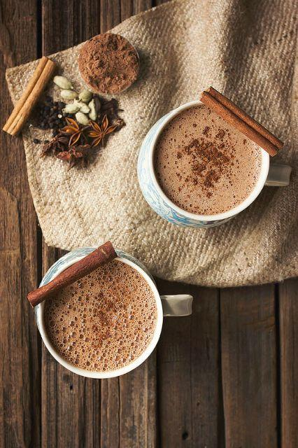 Chai Hot Chocolate Make your wintry beverage even more delicious by combining the two ultimate comforting hot drinks — chai and hot chocolate Try theChai Hot Chocolate.(Photo: Courtesy of Tasty-Yummies).