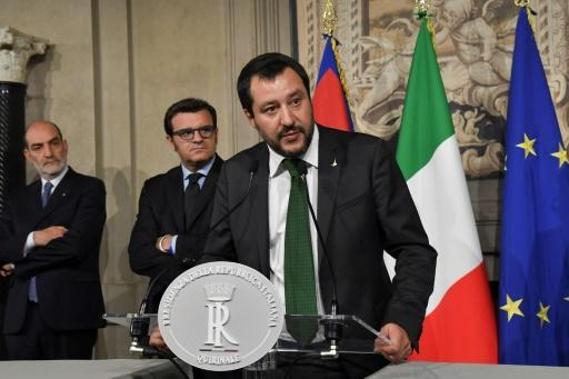 Salvini's rightwing alliance won 37 percent of the vote in the March 4 elections