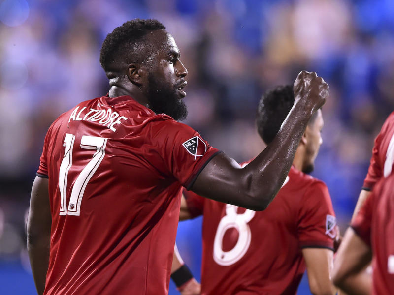 Toronto FC's Jozy Altidore scored a stunner against the New York Red Bulls on Wednesday. (Photo by Minas Panagiotakis/Getty Images)