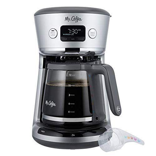"""<p><strong>Mr. Coffee</strong></p><p>amazon.com</p><p><strong>$59.99</strong></p><p><a href=""""https://www.amazon.com/dp/B07YP13B4Z?tag=syn-yahoo-20&ascsubtag=%5Bartid%7C10055.g.2083%5Bsrc%7Cyahoo-us"""" rel=""""nofollow noopener"""" target=""""_blank"""" data-ylk=""""slk:Shop Now"""" class=""""link rapid-noclick-resp"""">Shop Now</a></p><p>What else can we ask for from a drip machine that's easy to prep, easy to use, and makes a good pot of coffee? In our tests, we loved how easy the Mr. Coffee Easy Measure was to fill the water tank, thanks to the very large mouth. <strong>The color-coded measuring scoop also made it very easy to scoop the right amount of coffee grounds</strong> into the filter based on the corresponding water level. We also liked the rounded taste of the coffee, which came out hot but not burnt. As if these features weren't enough, the control panel lets you know how long the coffee has been keeping warm: it guarantees a fresh cup every time.</p>"""