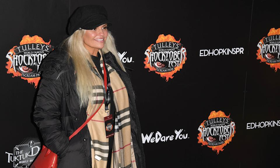 CRAWLEY, ENGLAND - OCTOBER 04: Kerry Katona attends Shocktober Fest 2019 at Tully's Farm on October 04, 2019 in Crawley, England. (Photo by Stuart C. Wilson/Getty Images)