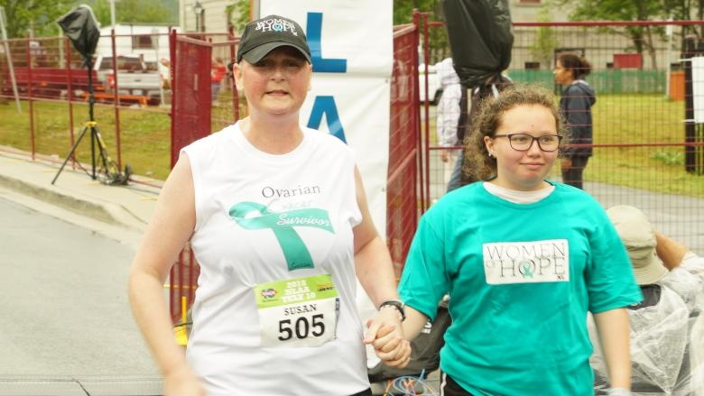 3 weeks after chemotherapy, Susan Glynn takes on the Tely 10