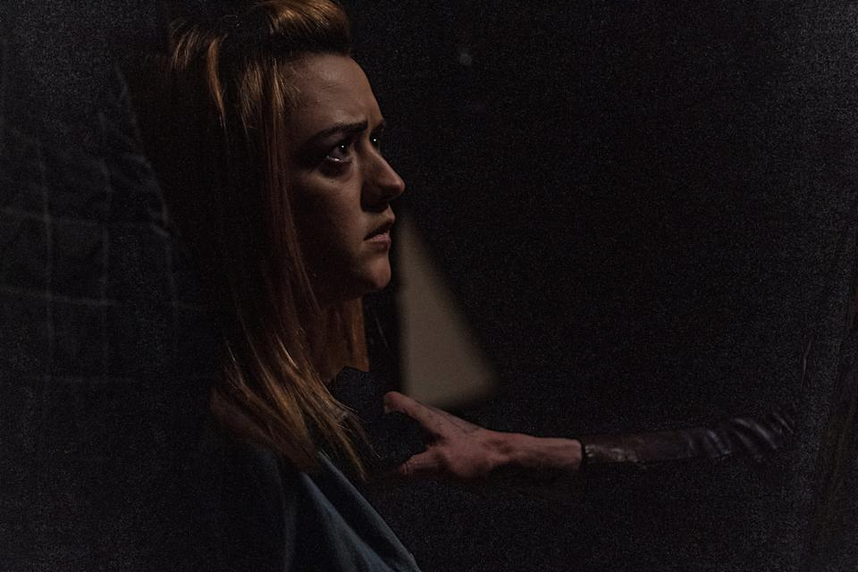 """Maisie Williams stars as a young British woman caught up in a robbery gone wrong in the horror thriller """"The Owners."""""""