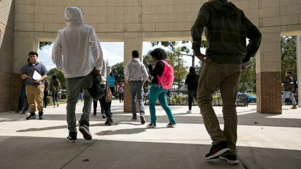 PHOTO: Students walk on the campus of Wheatley High School in Houston, Sept. 11, 2017. (Ilana Panich-linsman/The New York Times via Redux, FILE)
