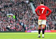 Manchester United's Cristiano Ronaldo appears dejected during the Barclays Premier League match at Old Trafford, Manchester. (Photo by Martin Rickett - PA Images/PA Images via Getty Images)