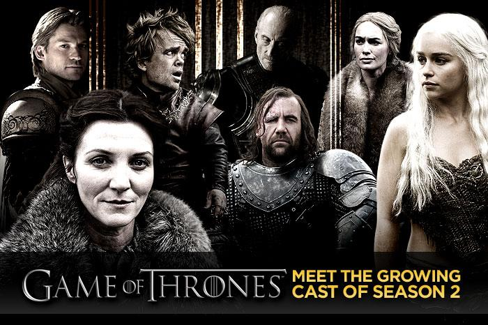 "Even though the second season of HBO's ""<a href=""/game-of-thrones/show/41208"">Game of Thrones</a>"" doesn't premiere until the spring of 2012, a large number of new faces have already been added to the cast. Click through this slideshow to find out which characters the new cast members will be playing."