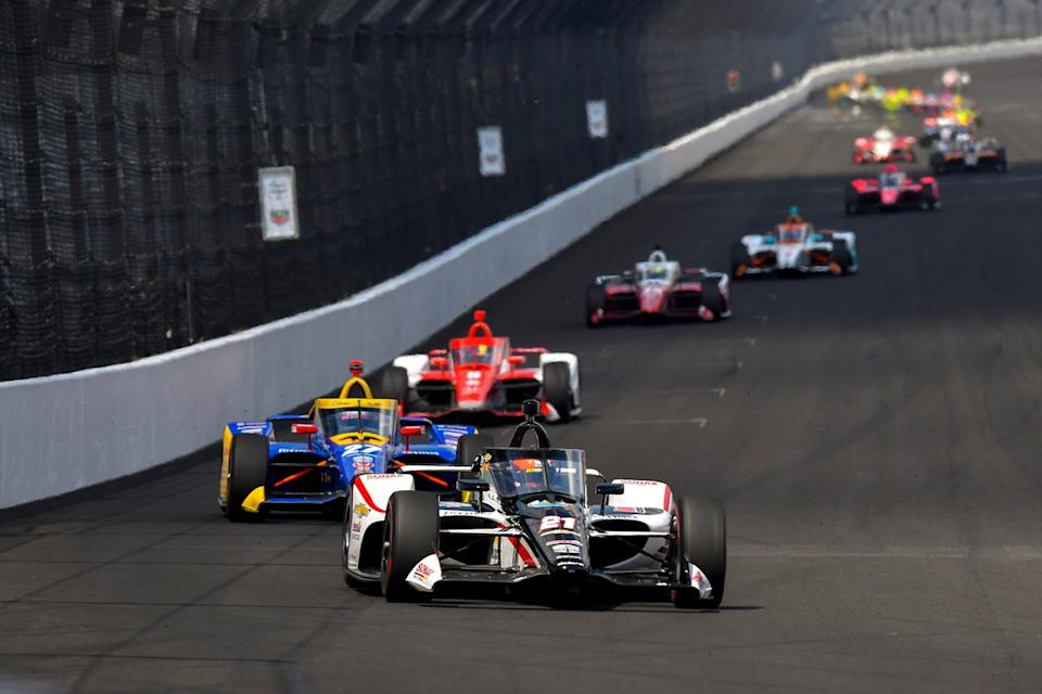 """VeeKay shone at Indy until that fateful pitstop. <span class=""""copyright"""">Gavin Baker / Motorsport Images</span>"""
