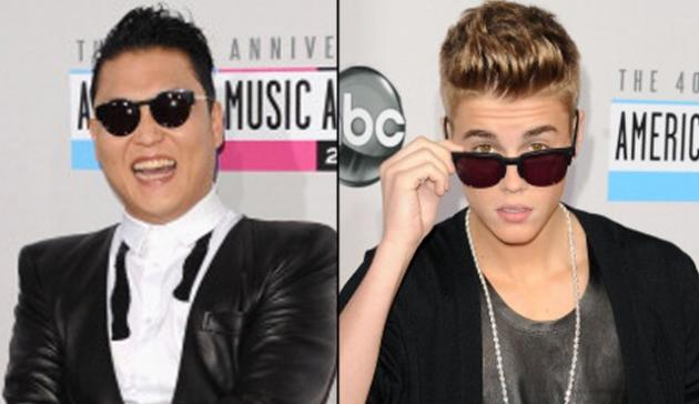 Psy, Justin Bieber -- Getty Images