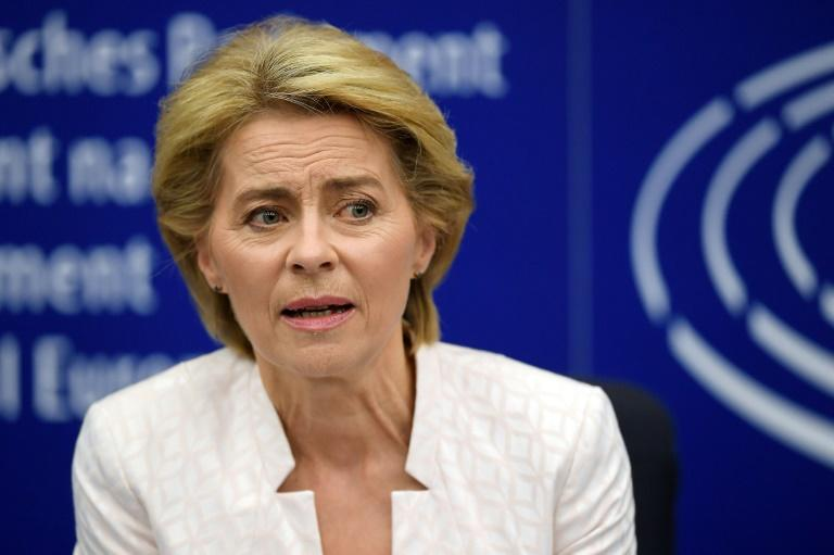 Newly elected European Commission president Ursula von der Leyen has made climate change action a top priority (AFP Photo/FREDERICK FLORIN)