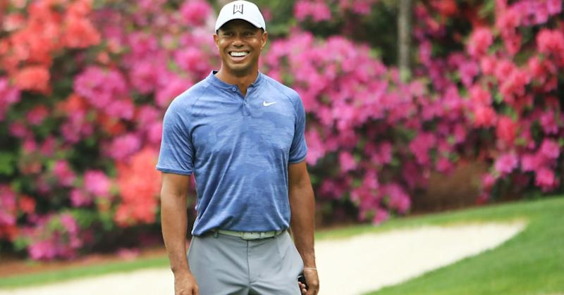 e99198682203 Tiger Woods during a practice round prior to The Masters at Augusta  National Golf Club on