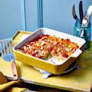 """<p>This low calorie lasagne makes for a tasty midweek dinner</p><p><strong>Recipe: <a href=""""https://www.goodhousekeeping.com/uk/food/recipes/a35546910/easy-courgette-and-leek-lasagne/"""" rel=""""nofollow noopener"""" target=""""_blank"""" data-ylk=""""slk:Easy Courgette and Leek Lasagne"""" class=""""link rapid-noclick-resp"""">Easy Courgette and Leek Lasagne</a></strong></p>"""