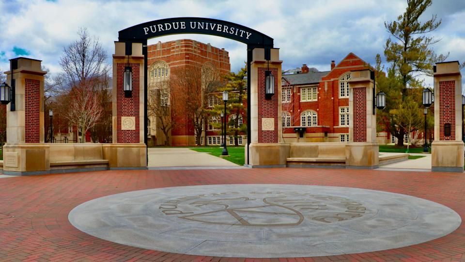 West Lafayette, Indiana/USA March 30 2020: Purdue University in the time of COVID-19 Social Distancing & Self Quarantine.