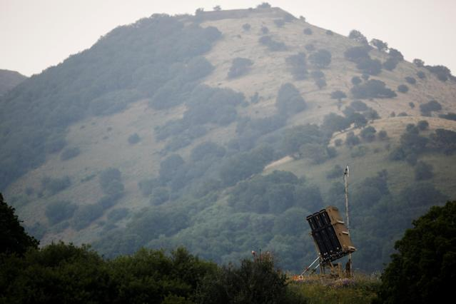 <p>An Iron Dome anti-missile system can be seen near the Israeli side of the border with Syria in the Israeli-occupied Golan Heights, Israel, May 9, 2018. (Photo: Amir Cohen/Reuters) </p>