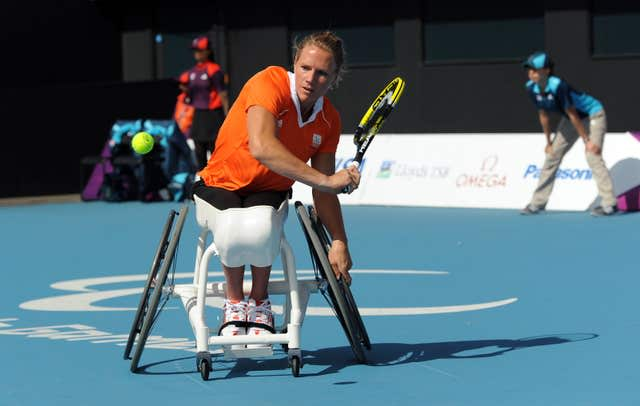 Esther Vergeer was a four-time Paralympic singles champio