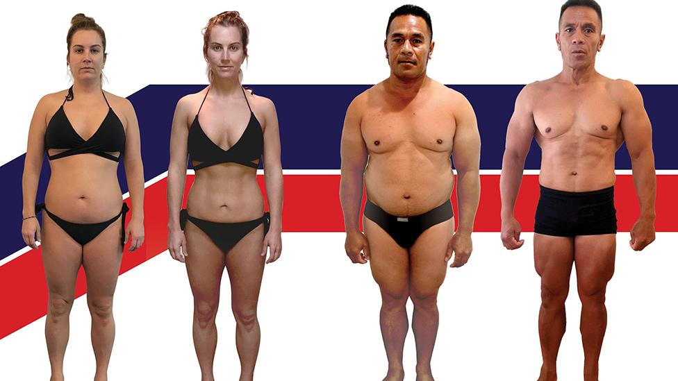 The winners of the latest F45 8-week Challenge are nearly unrecognisable. Photo: Supplied/F45