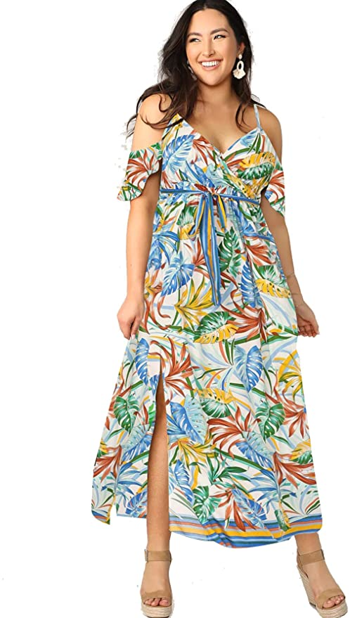 """<br><br><strong>Milumia</strong> Bohemian Split Dress, $, available at <a href=""""https://amzn.to/3w1W99f"""" rel=""""nofollow noopener"""" target=""""_blank"""" data-ylk=""""slk:Amazon"""" class=""""link rapid-noclick-resp"""">Amazon</a>"""