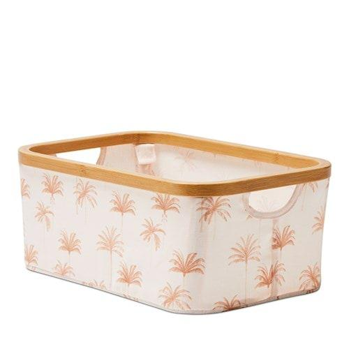 Adairs Anderson Palm Print Rectangle Storage boxes, $34.99