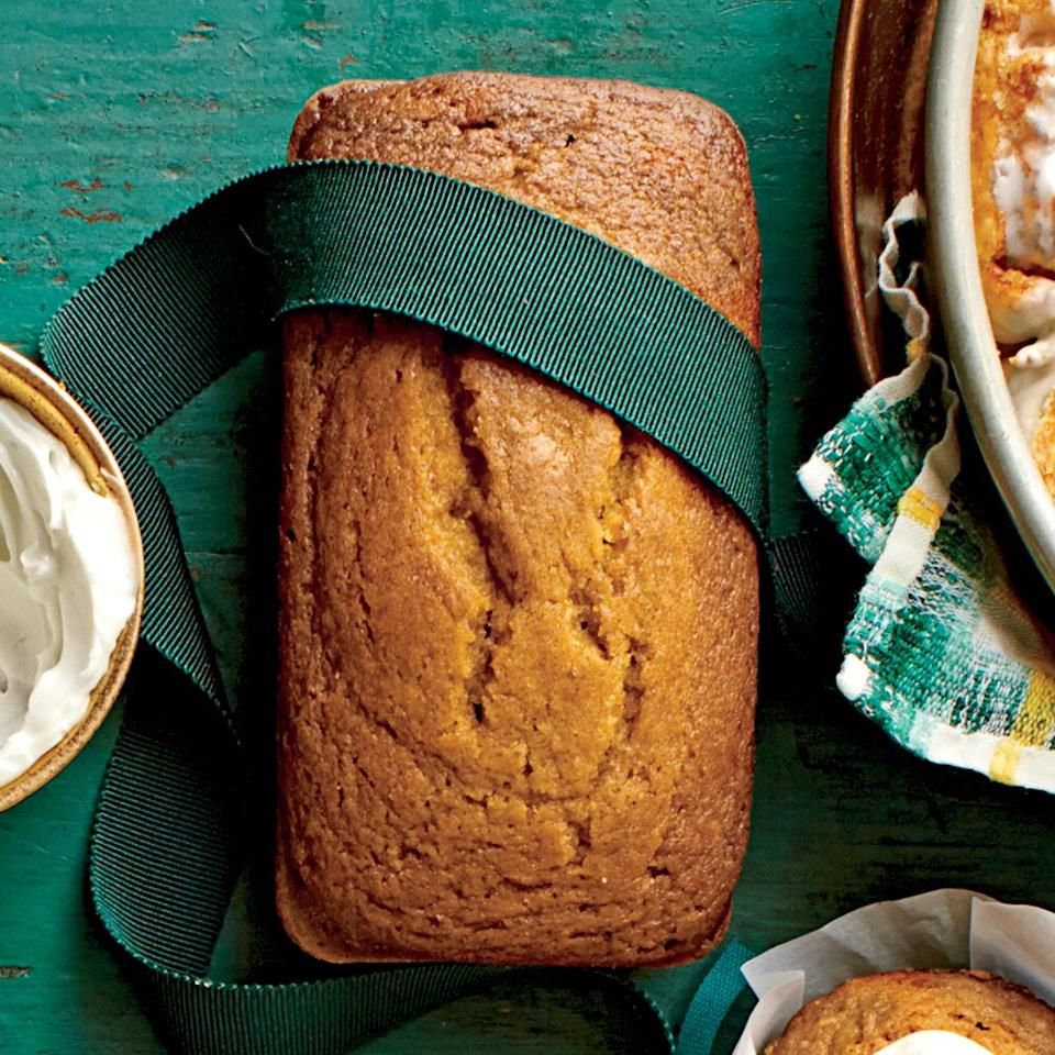 """<p>Mix the batter only until the dry ingredients disappear. (Lumps are normal.) Overmixing causes tough or misshapen loaves.</p> <p><a href=""""https://www.myrecipes.com/recipe/pumpkin-honey-beer-bread"""">Pumpkin-Honey-Beer Bread Recipe</a></p>"""
