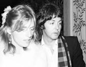 <p>Paul and Linda McCartney attend a party for Rod Stewart and The Faces at The Greenhouse in Los Angeles, California in 1970.</p>