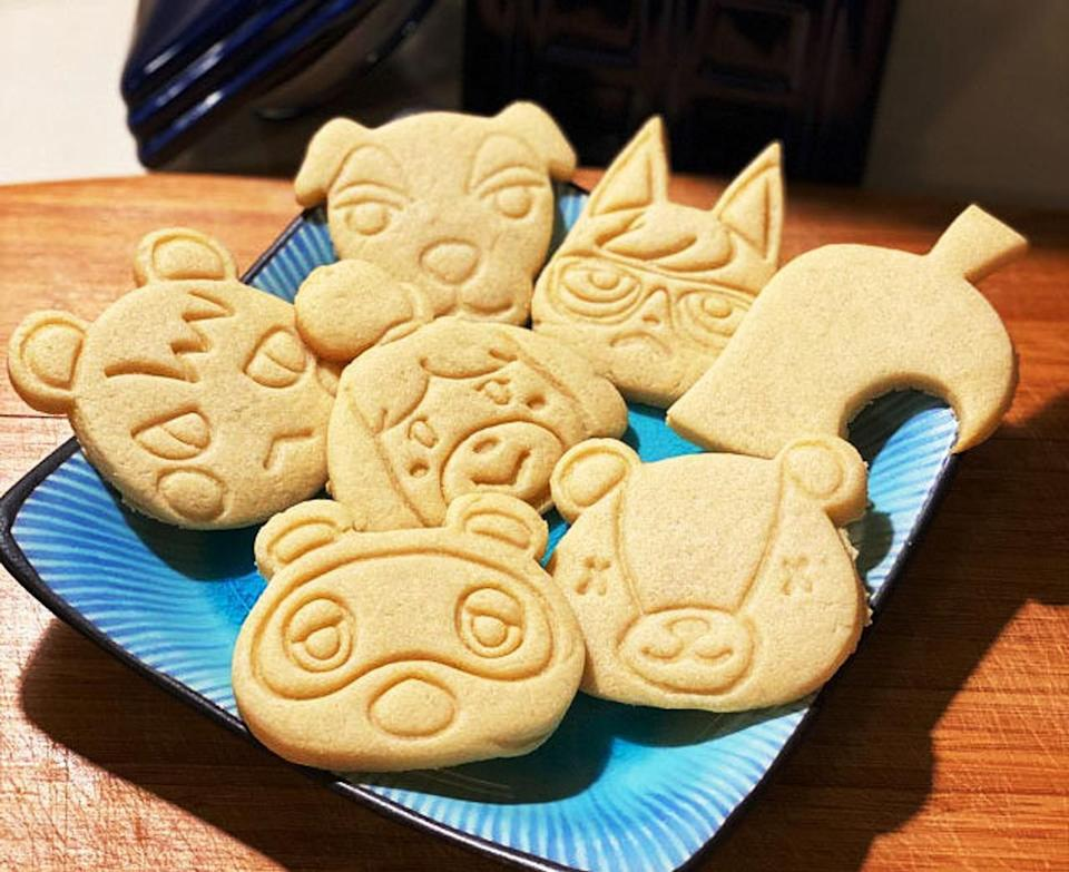 """Soyou can whip up a batch of deliciously adorable treats to snack on while playing your favorite game. these cookie cutters are made of food-safe plastic and are free of dyes/coloring, BPA and phthalates. They're recyclable but not dishwasher-safe, so be sure to hand-wash after each use!<br /><br /><strong>Promising review:</strong>""""Just got these today and they're adorable! I love that a sugar cookie recipe was included with the cutters. Can't wait to make cookies with these!"""" — <a href=""""https://go.skimresources.com?id=38395X987171&xs=1&xcust=HPKitchenProductsDidntKnowExisted-60a3fc0fe4b063dcceaf8560-&url=https%3A%2F%2Fwww.etsy.com%2Flisting%2F779902740%2Fanimal-crossing-cookie-cutter-food-safe"""" target=""""_blank"""" rel=""""noopener noreferrer"""">Stephanie Miranda</a><br /><br /><strong><a href=""""https://go.skimresources.com?id=38395X987171&xs=1&xcust=HPKitchenProductsDidntKnowExisted-60a3fc0fe4b063dcceaf8560-&url=https%3A%2F%2Fwww.etsy.com%2Flisting%2F779902740%2Fanimal-crossing-cookie-cutter-food-safe"""" target=""""_blank"""" rel=""""noopener noreferrer"""">Get it fromTrinketSlotCrafts on Etsy for $8.</a></strong><br /><a href=""""https://www.buzzfeed.com/samanthawieder/kitchen-products-didnt-know-existed"""" aria-label=""""Copy Link"""" data-skimlinks-tracking=""""5855831""""></a>"""