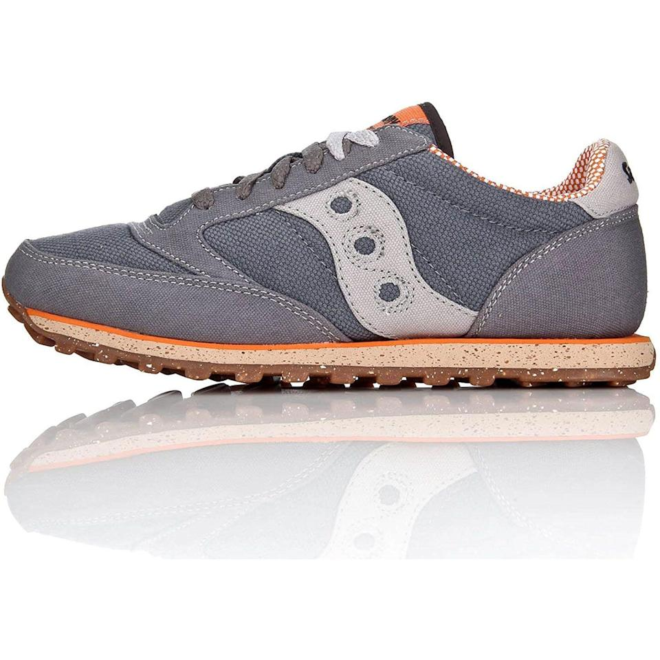"""<p><strong>Saucony</strong></p><p>amazon.com</p><p><strong>$48.08</strong></p><p><a href=""""https://www.amazon.com/dp/B003C1P9Y6?tag=syn-yahoo-20&ascsubtag=%5Bartid%7C10054.g.36803444%5Bsrc%7Cyahoo-us"""" rel=""""nofollow noopener"""" target=""""_blank"""" data-ylk=""""slk:Shop Now"""" class=""""link rapid-noclick-resp"""">Shop Now</a></p><p>Not just great looking, but animal-free, too.</p>"""