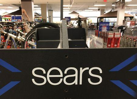 A Sears logo is seen inside a department store in Garden City, New York