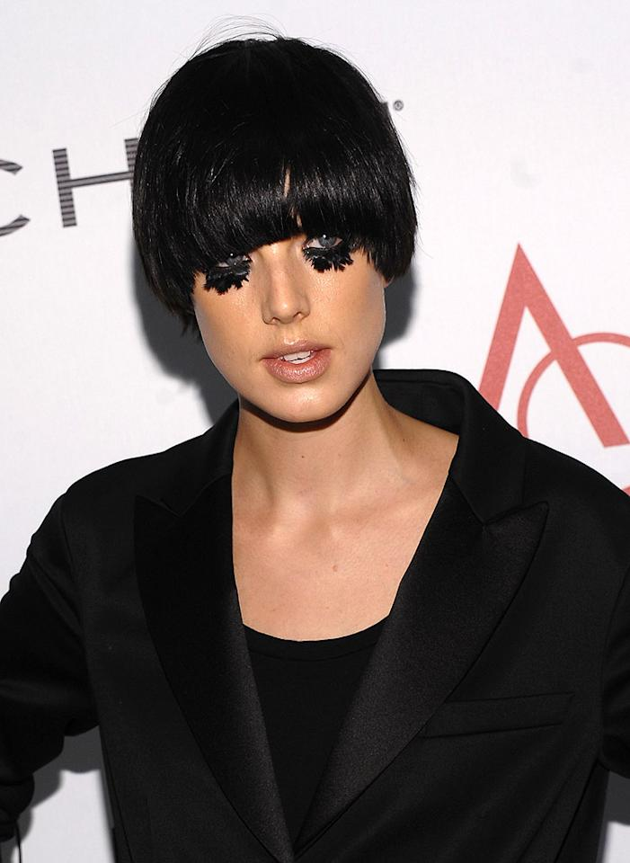 "Unfortunately, it looks like model Agyness Deyn let Pete Wentz do her makeup. Dimitrios Kambouris/<a href=""http://www.gettyimages.com/"" target=""new"">GettyImages.com</a> - November 2, 2009"