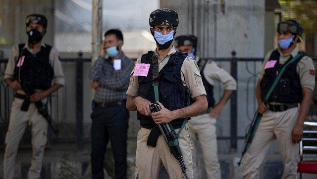 Celebrations were held amid strict security measures in Jammu and Kashmir. Mobile services were snapped in the Valley and later restored after the conclusion of the official functions at the at Sher-e-Kashmir cricket stadium in Srinagar. AP