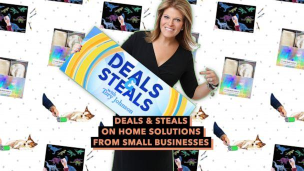 PHOTO: Deals & Steals on home solutions from small businesses (ABC News Photo Illustration, Imagination Starters, Go Sticky, SHINE by NIGHT)
