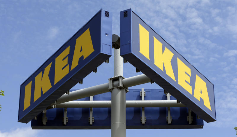 FILE - This Wednesday, June 3, 2015, file photo shows an Ikea store in Miami. Ikea is relaunching a recall of 29 million chests and dressers after the death of a seventh child attributed to one of the dressers tipping over. Ikea CEO Lars Petersson said the company wants to increase awareness of the recall campaign, first announced in June 2016, for several types of chest and dressers that can easily tip over if not properly anchored to a wall. (AP Photo/Alan Diaz, File)