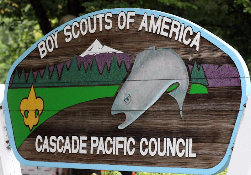 FILE -  In this Sept. 13, 2011, file photo, show the Boy Scouts of America Cascade Pacific Council sign, in Portland, Ore. The Oregon Supreme Court has approved the release of 20,000 pages of so-called perversion files compiled by the Boy Scouts of America on suspected child molesters within the organization for more than 20 years, giving the public its first chance to review the records.  (AP Photo/Rick Bowmer, File)