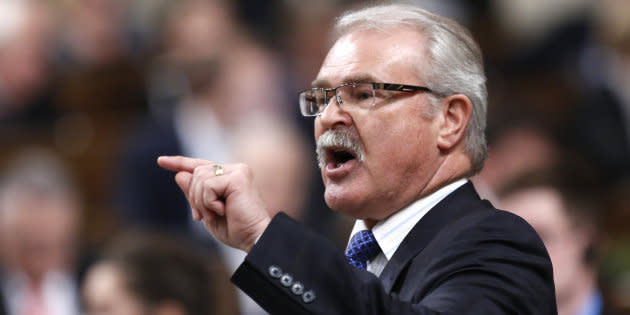 Gerry Ritz speaks in the House of Commons on Dec. 4, 2014.