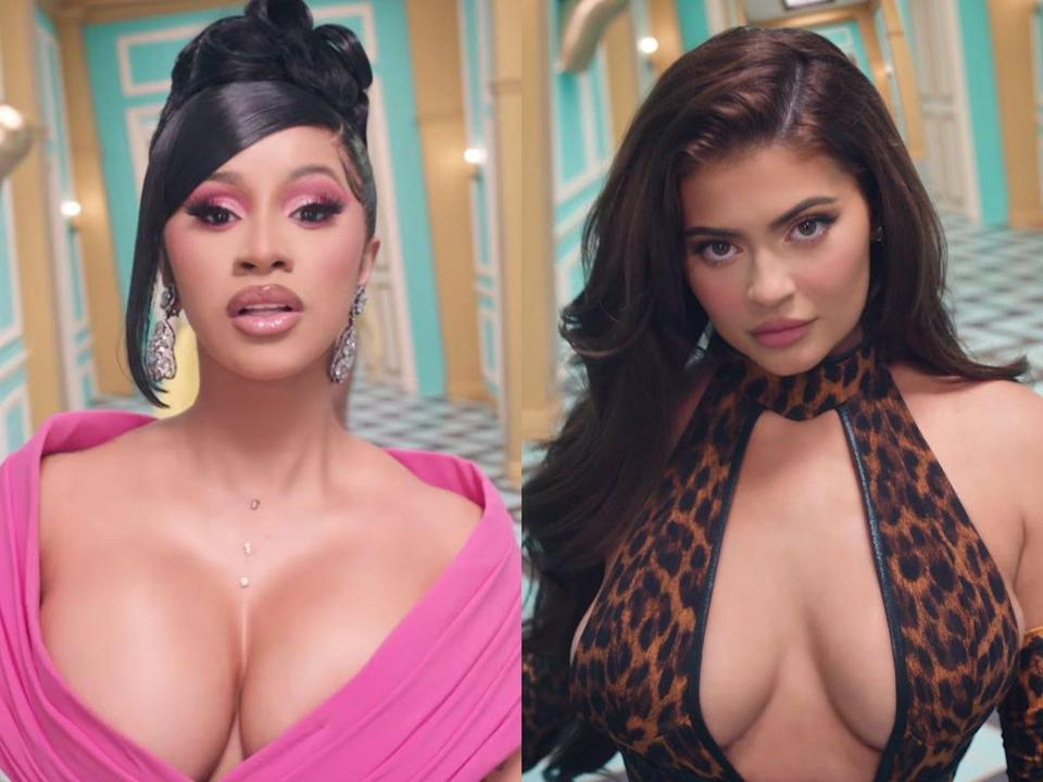 """Cardi B featured Kylie Jenner in her """"WAP"""" music video."""