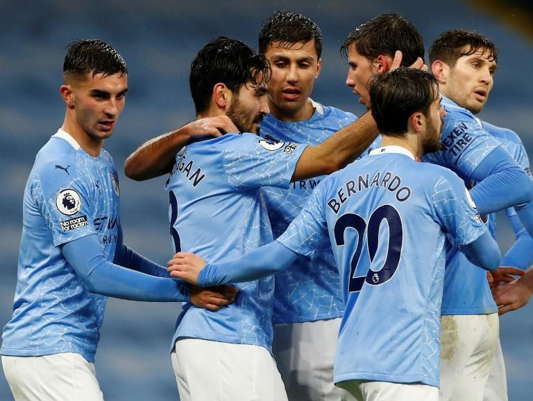 Manchester City's players have returned to training after a coronavirus outbreak at the club