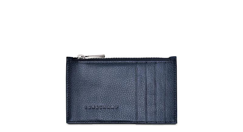 Longchamp Le Foulonné Leather Coin Purse