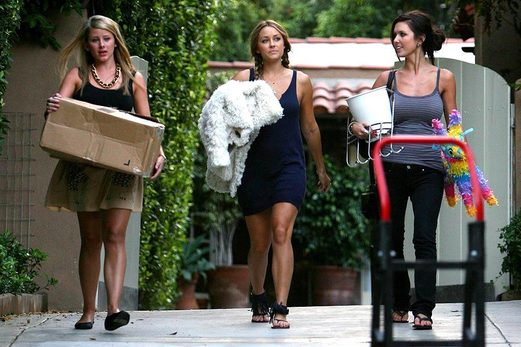 "Despite reconciling on ""The Hills"" last week, cameras ""caught"" Audrina Patridge moving out of Lauren Conrad's guesthouse. Barnsley, Breeden/<a href=""http://www.pacificcoastnews.com/"" target=""new"">PacificCoastNews.com</a> - September 18, 2008"