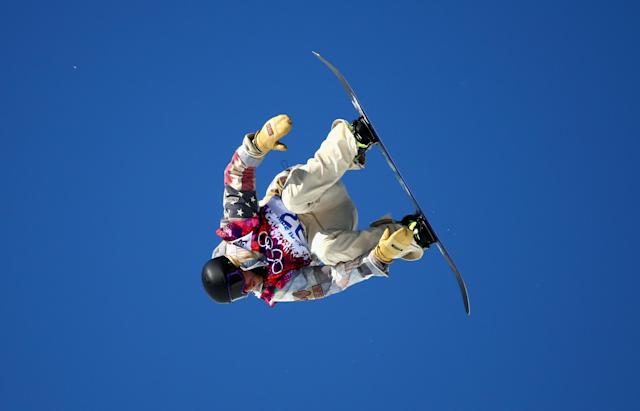 SOCHI, RUSSIA - FEBRUARY 08: Sage Kotsenburg of the United States competes during the Snowboard Men's Slopestyle Final during day 1 of the Sochi 2014 Winter Olympics at Rosa Khutor Extreme Park on February 8, 2014 in Sochi, Russia. (Photo by Ryan Pierse/Getty Images)