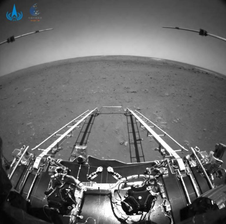 The Zhurong rover was carried into the Martian atmosphere in the first ever successful probe landing by any country on its first Mars mission
