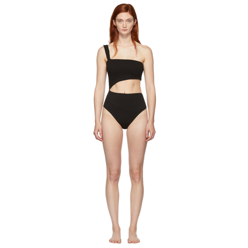 Haight Black Crepe Iu One-Piece Swimsuit. Image via SSENSE.