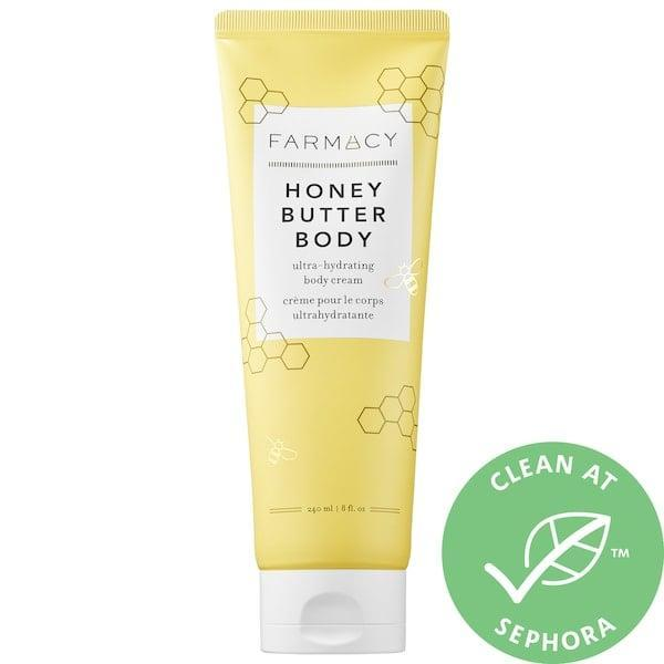 <p>This <span>Farmacy Honey Body Butter Ultra-Hydrating Body Cream</span> ($35) was the brand's first body cream, and it's perfect for extra hydration when those chilly temperatures hit. Its star ingredient is antioxidant-rich buckwheat honey to soothe, coupled with a triple butter blend (cupuaçu, cacao, and mango) for long-lasting deep moisture with no greasy feeling later.</p>